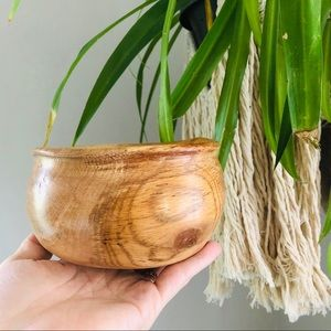 Hand Carved Solid Wood Beautiful Medium Bowl